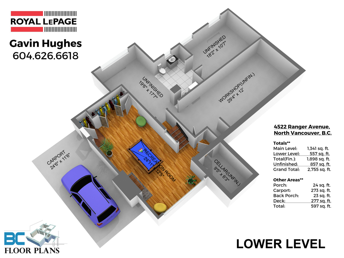 LOWER-LEVEL-DIM at 4522 Ranger Avenue, Canyon Heights NV, North Vancouver