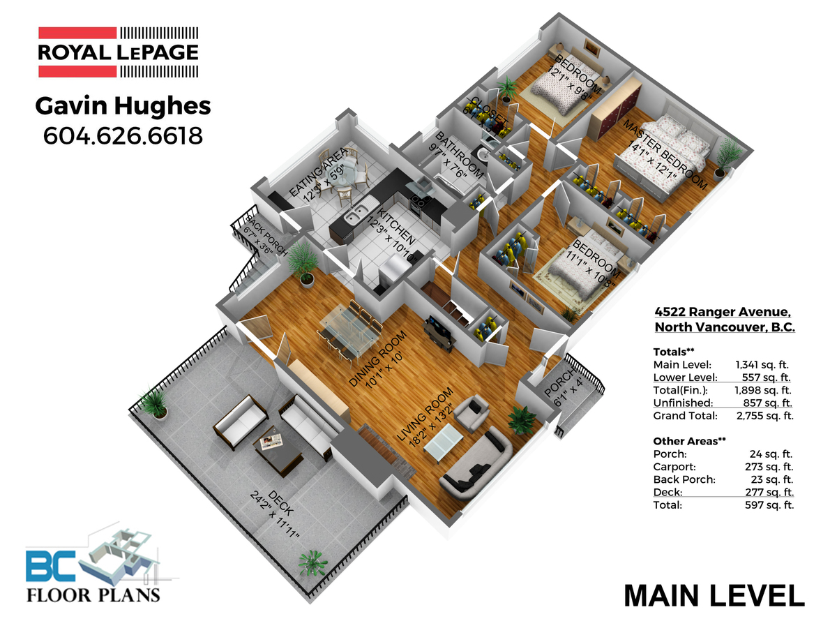 MAIN-LEVEL-DIM at 4522 Ranger Avenue, Canyon Heights NV, North Vancouver