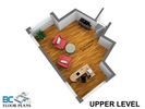 upper-level-dim at 4482 Ruskin Place, Forest Hills NV, North Vancouver