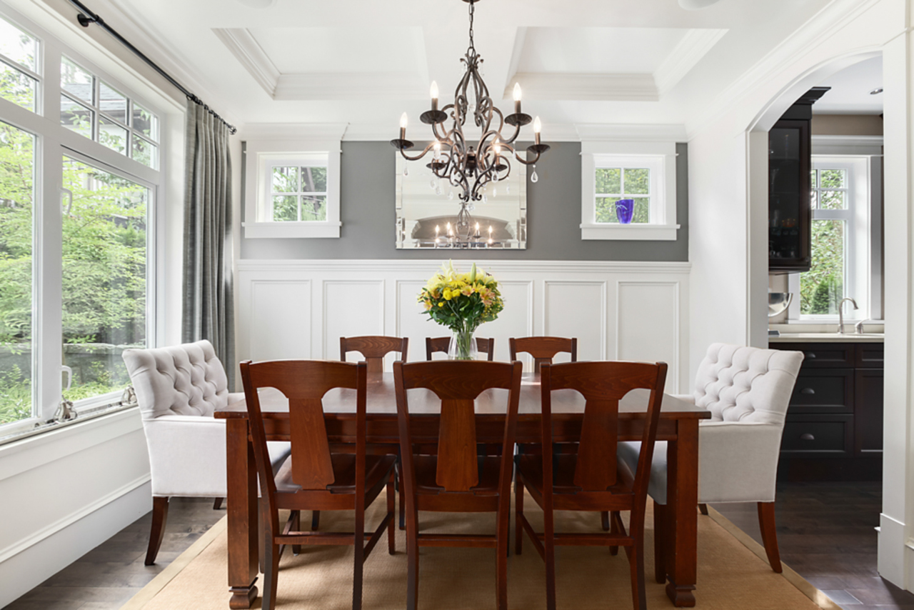 Dining room at 1447 Ottawa Avenue, Ambleside, West Vancouver