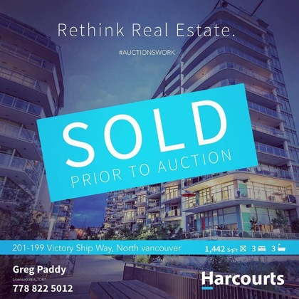 SOLD at 201 - 199 Victory Ship Way, Lower Lonsdale, North Vancouver