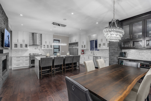 4-kitchen-with-dining-room-bar at 5911 168a Street, Cloverdale BC, Cloverdale