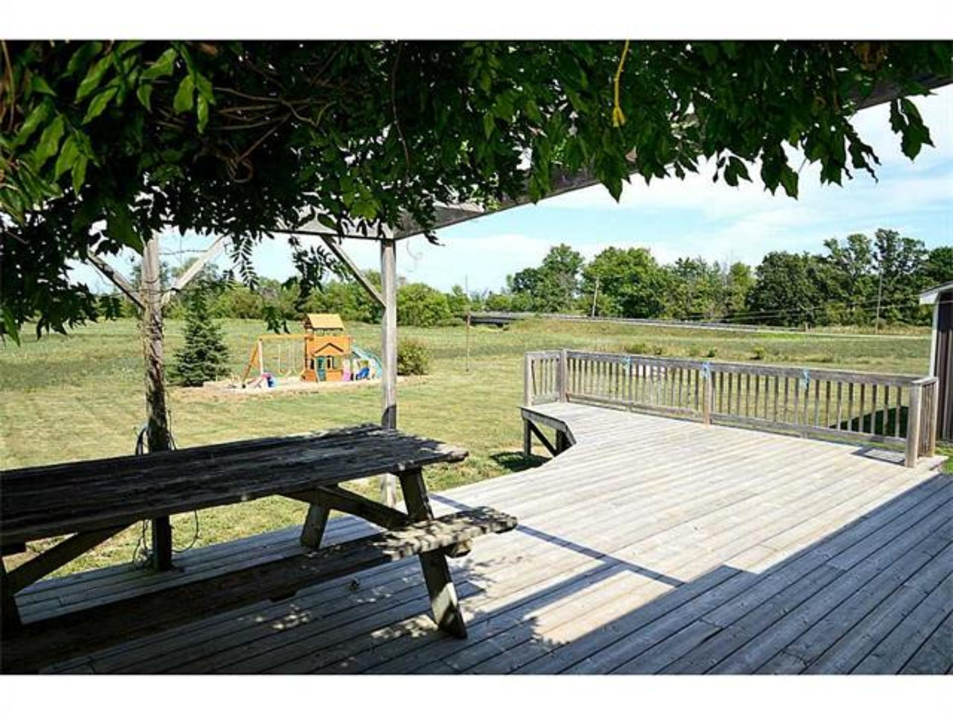 Back deck at 7221 -  Range 1 Road , West Lincoln