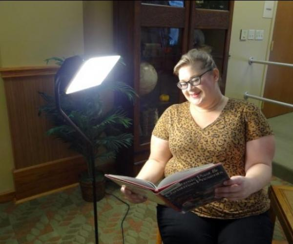 Burlington public library offers light therapy!