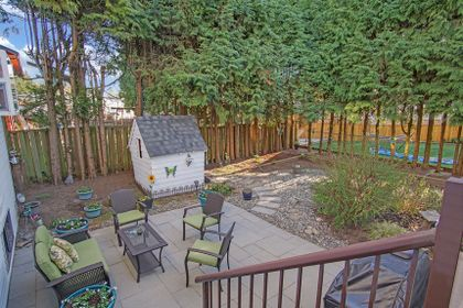 4c-back-deck-view-to-patio-42 at 836 Irvine Street, Meadow Brook, Coquitlam