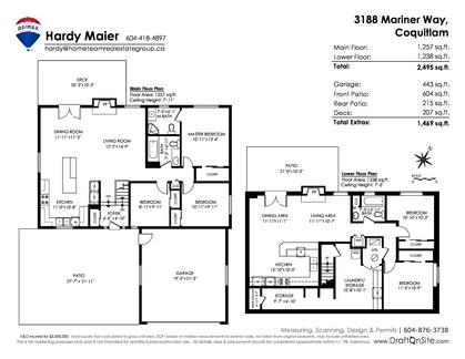 floorplan-jpeg at 3188 Mariner Way, Ranch Park, Coquitlam