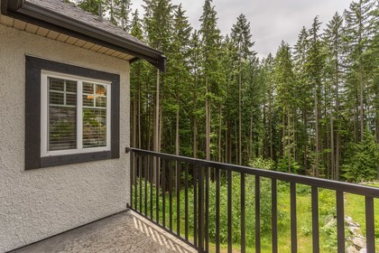Deck off BR at 1408 Crystal Creek Drive, Anmore, Port Moody