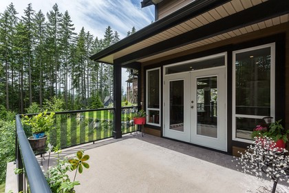 Deck off Den at 1408 Crystal Creek Drive, Anmore, Port Moody
