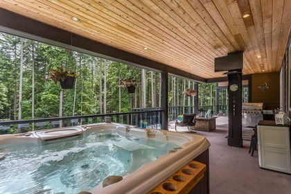 Nice Hot Tub and TV at 1408 Crystal Creek Drive, Anmore, Port Moody