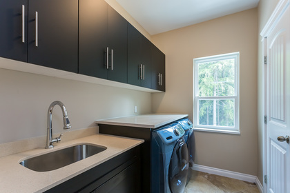 Upstairs Laundry at 1408 Crystal Creek Drive, Anmore, Port Moody