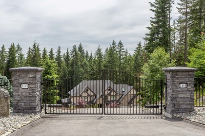 Gated Entry at 1408 Crystal Creek Drive, Anmore, Port Moody