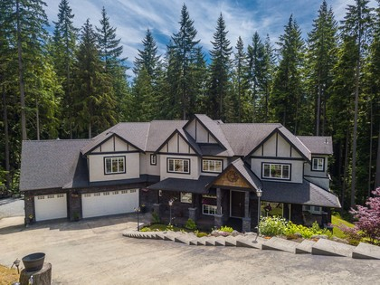 Front w/ Triple Garage at 1408 Crystal Creek Drive, Anmore, Port Moody