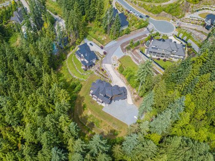 Aerial at 1408 Crystal Creek Drive, Anmore, Port Moody