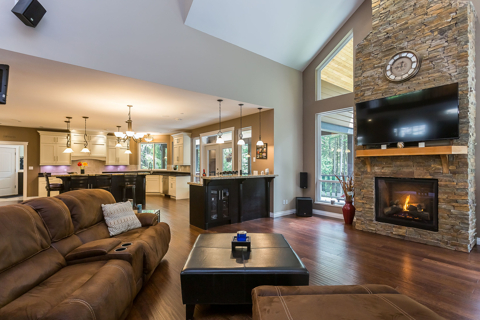 Living Room at 1408 Crystal Creek Drive, Anmore, Port Moody