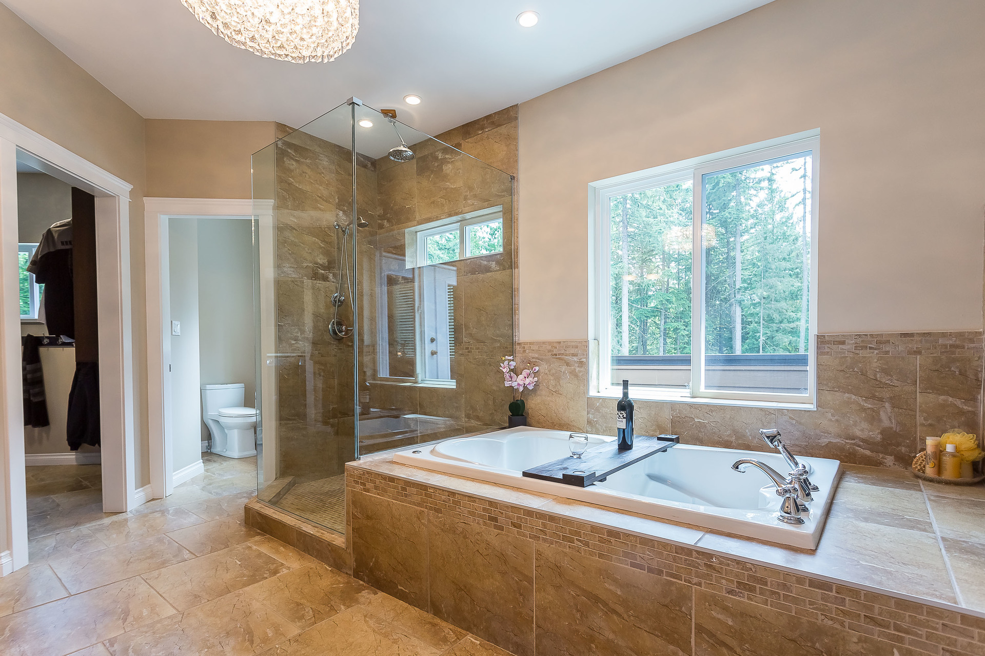 Jetted Soaker Tub at 1408 Crystal Creek Drive, Anmore, Port Moody
