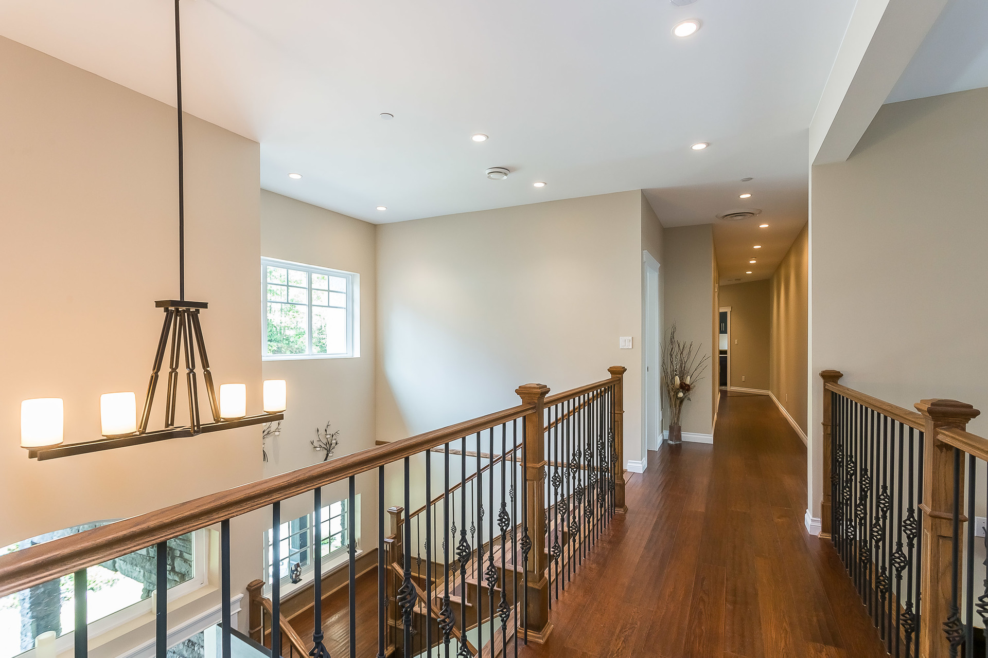 Hallway Open to Main Floor at 1408 Crystal Creek Drive, Anmore, Port Moody