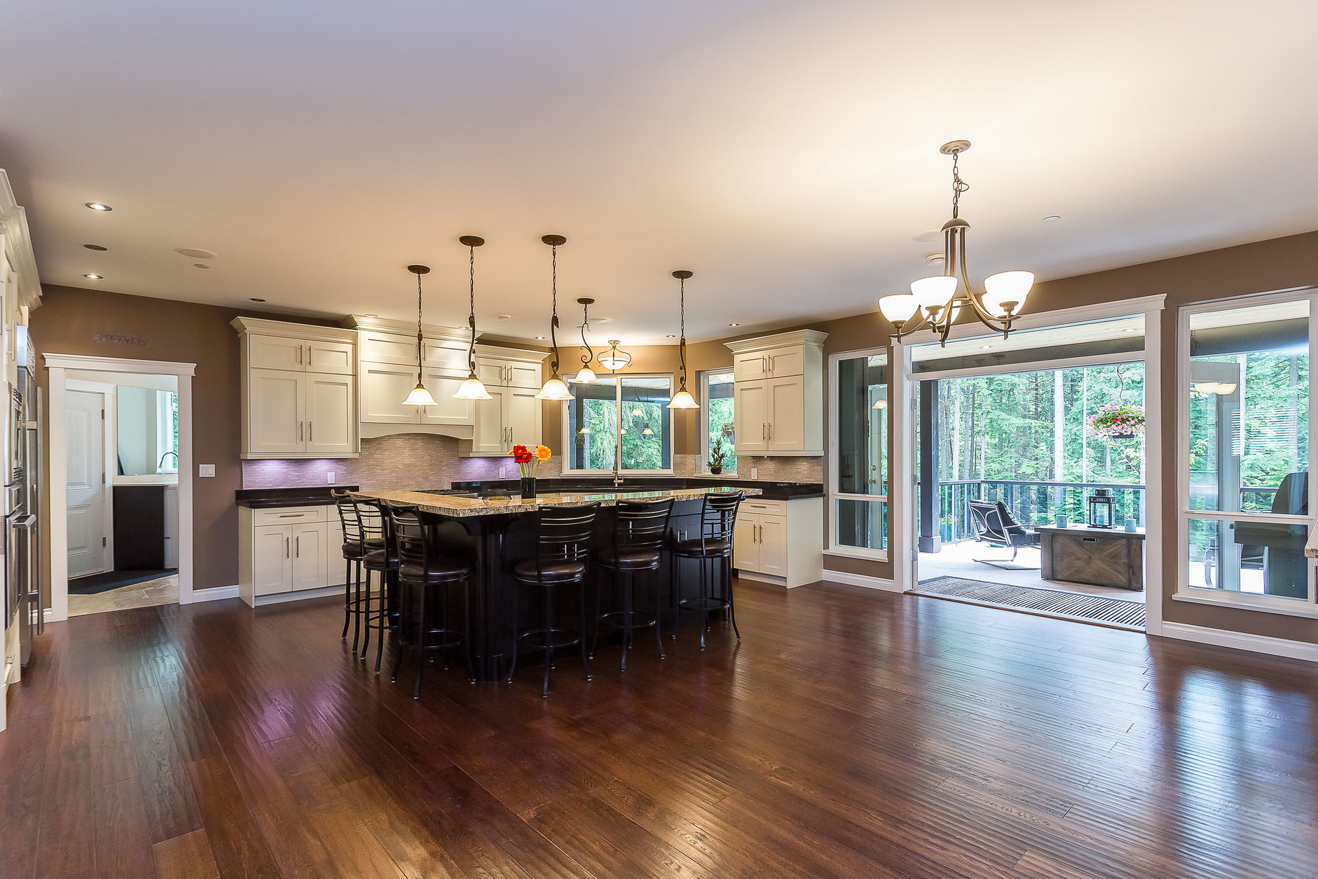 Oak Flooring Throughout at 1408 Crystal Creek Drive, Anmore, Port Moody