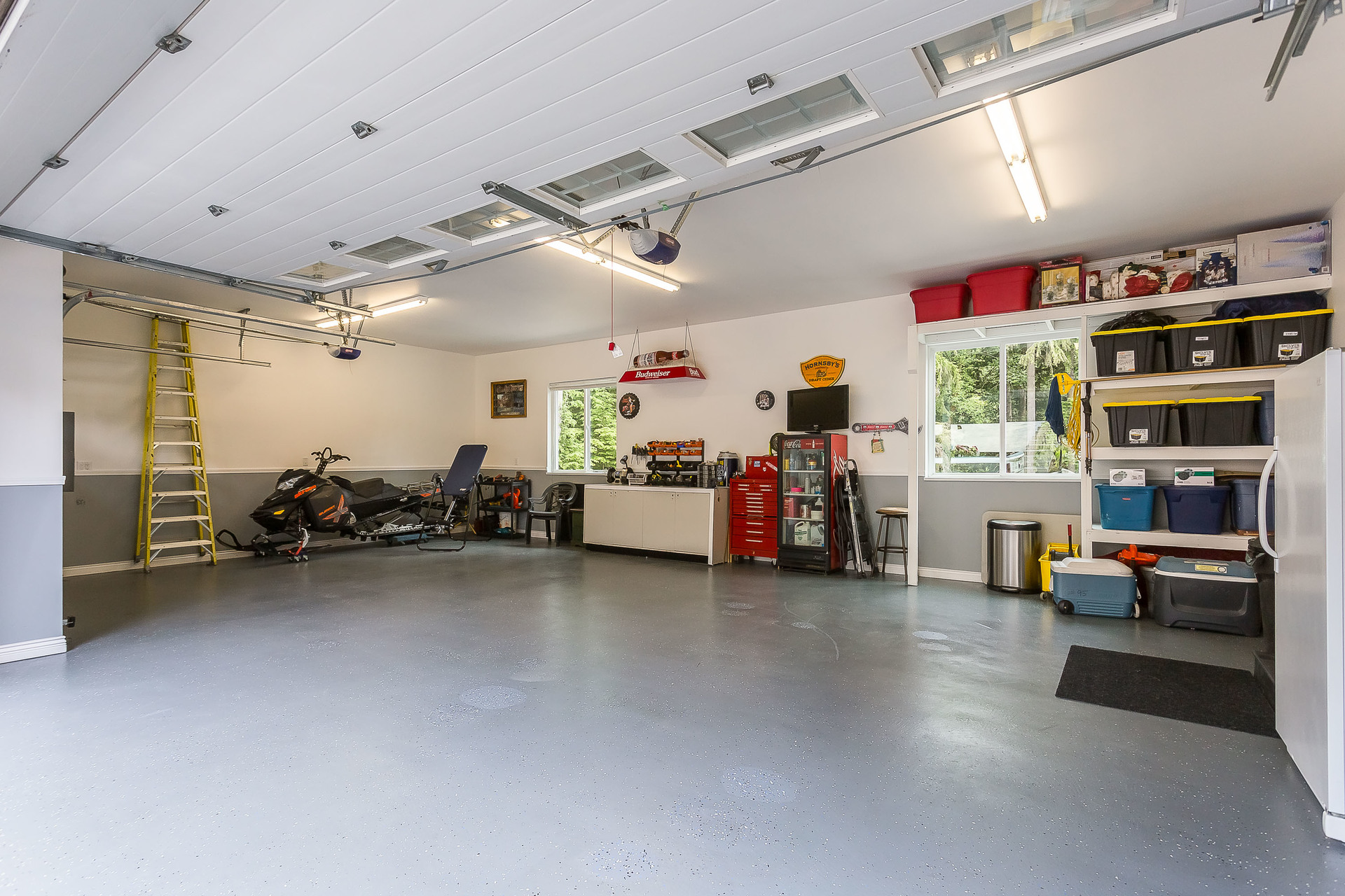 Upper Triple Garage at 1408 Crystal Creek Drive, Anmore, Port Moody
