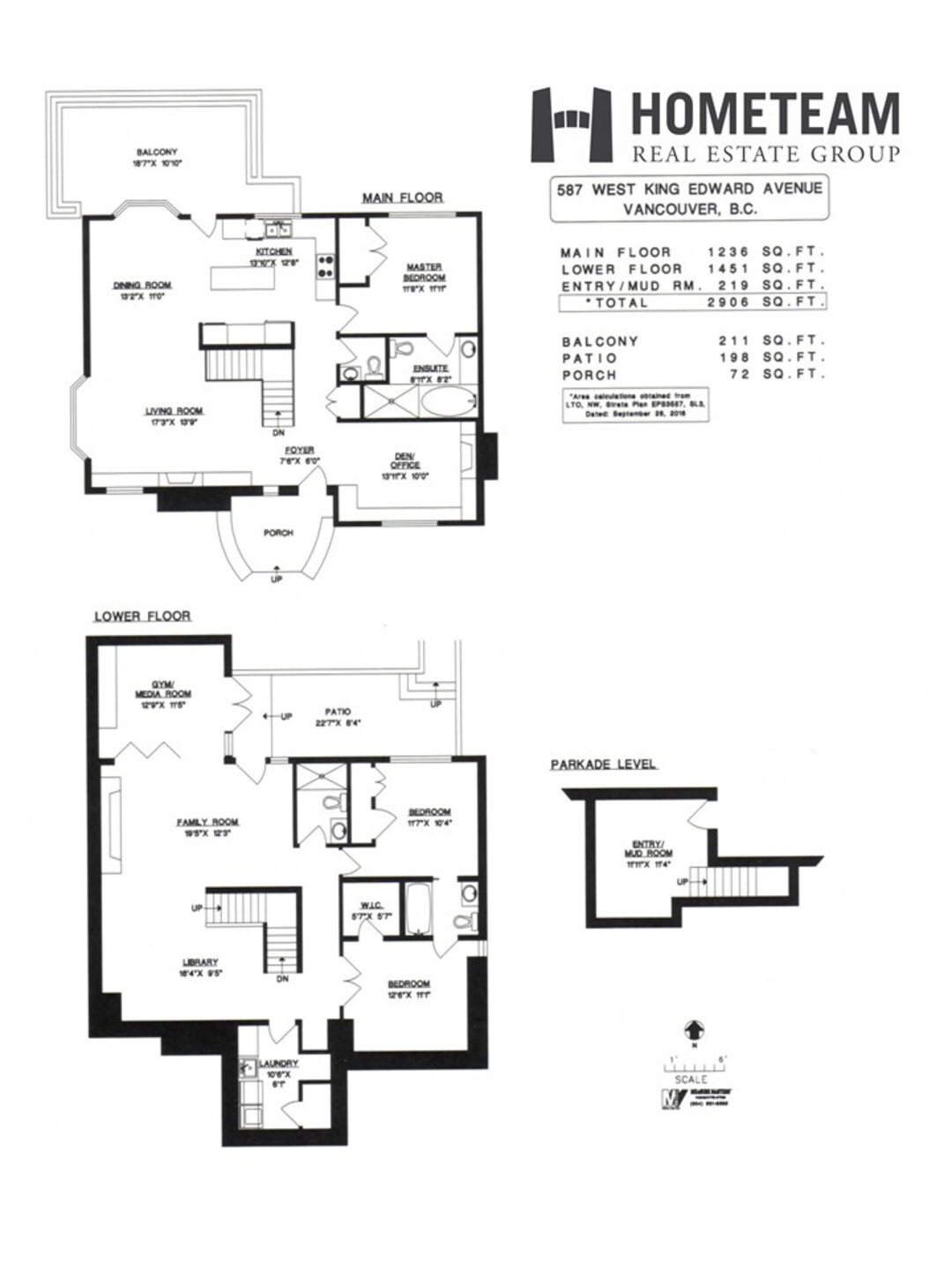 floorplan at 587 West King Edward Avenue,