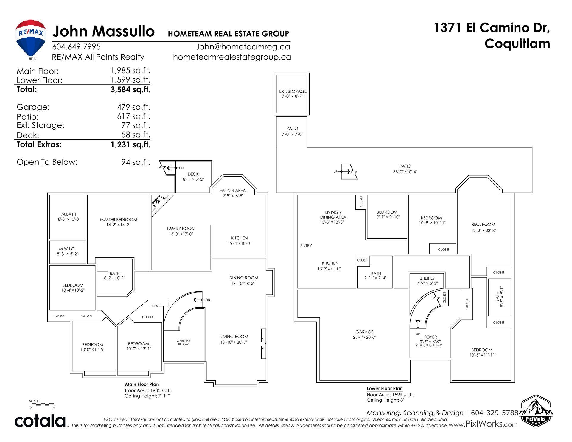floorplan_branded at 1371 El Camino Drive, Hockaday, Coquitlam