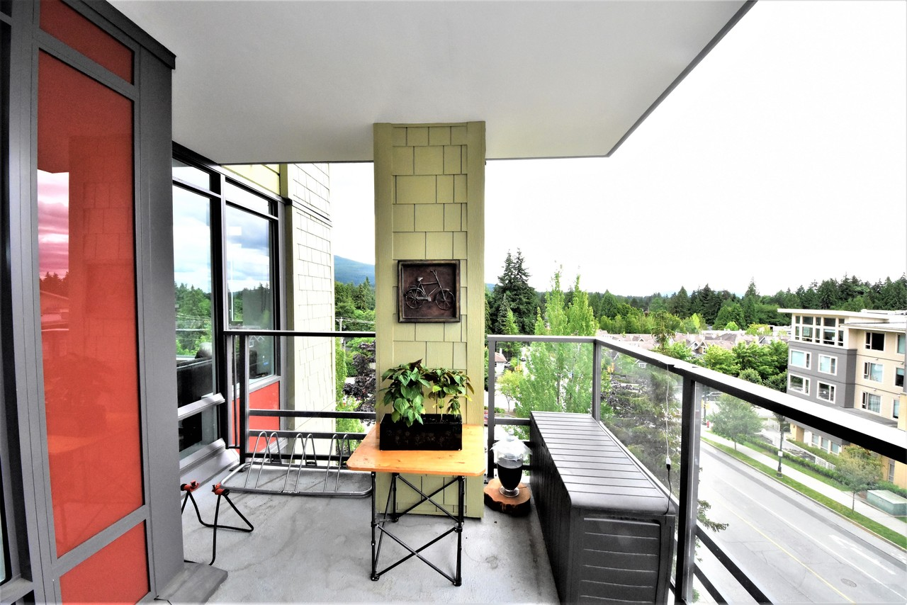 balcony at 419 - 2738 Library Lane, Lynn Valley, North Vancouver