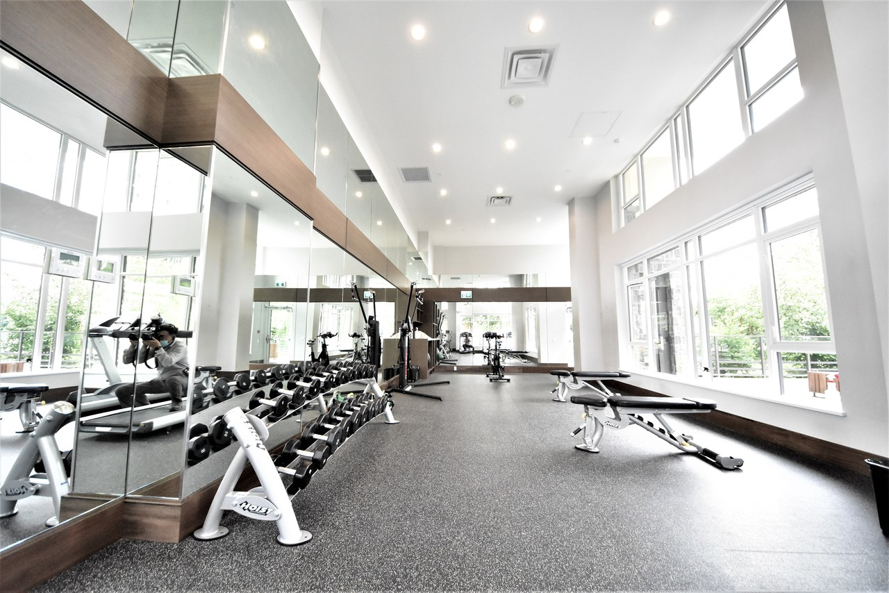 fittness-room-1 at 419 - 2738 Library Lane, Lynn Valley, North Vancouver