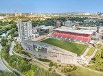 730-echo-drone-td-stadium-view-north at 730 Echo Drive, Old Ottawa South, Ottawa