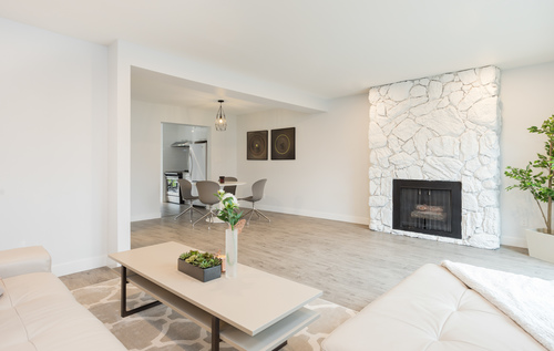 fireplace at 6887 Bromley Court, Montecito, Burnaby North