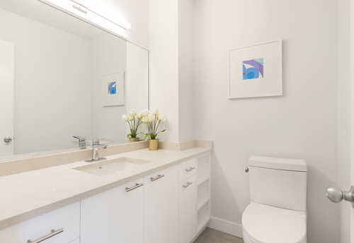 powderroom at 6887 Bromley Court, Montecito, Burnaby North