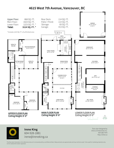 4615-west-7th-floor-plan at 4615 West 7th Street, Point Grey, Vancouver West
