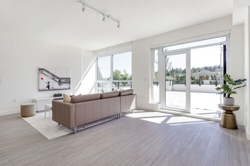 opal-living-patio at 371 - 438 West King Edward, Cambie, Vancouver West