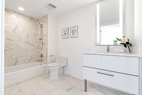 opal-main-bath at 371 - 438 West King Edward, Cambie, Vancouver West