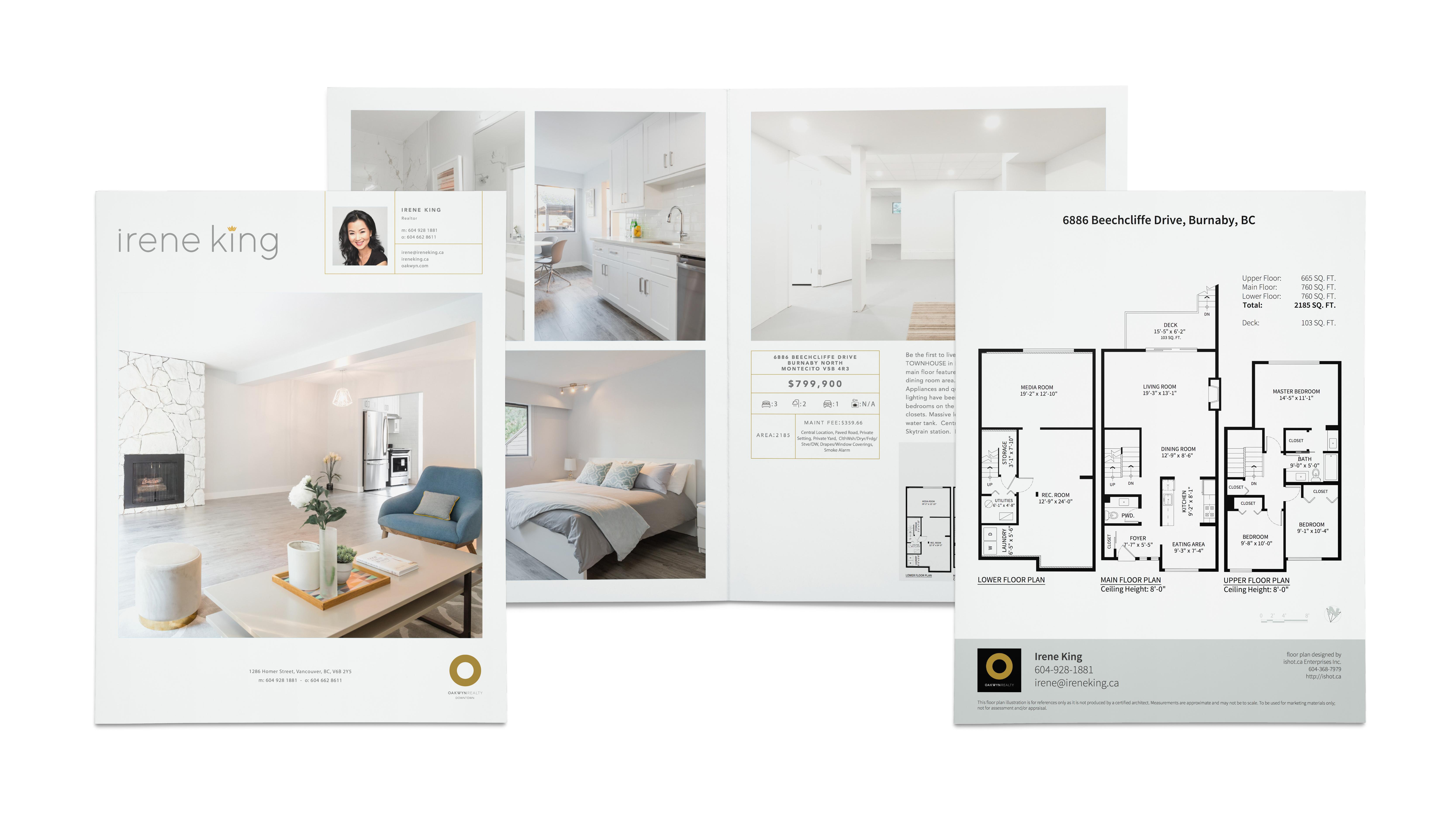 Custom Listing Brochures + Floor Plans