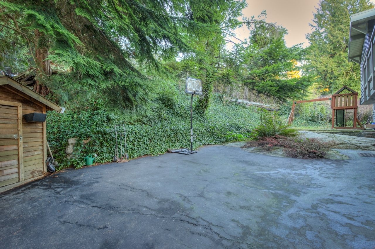 Back Yard 1  at 4741 Rutland Road, Caulfeild, West Vancouver