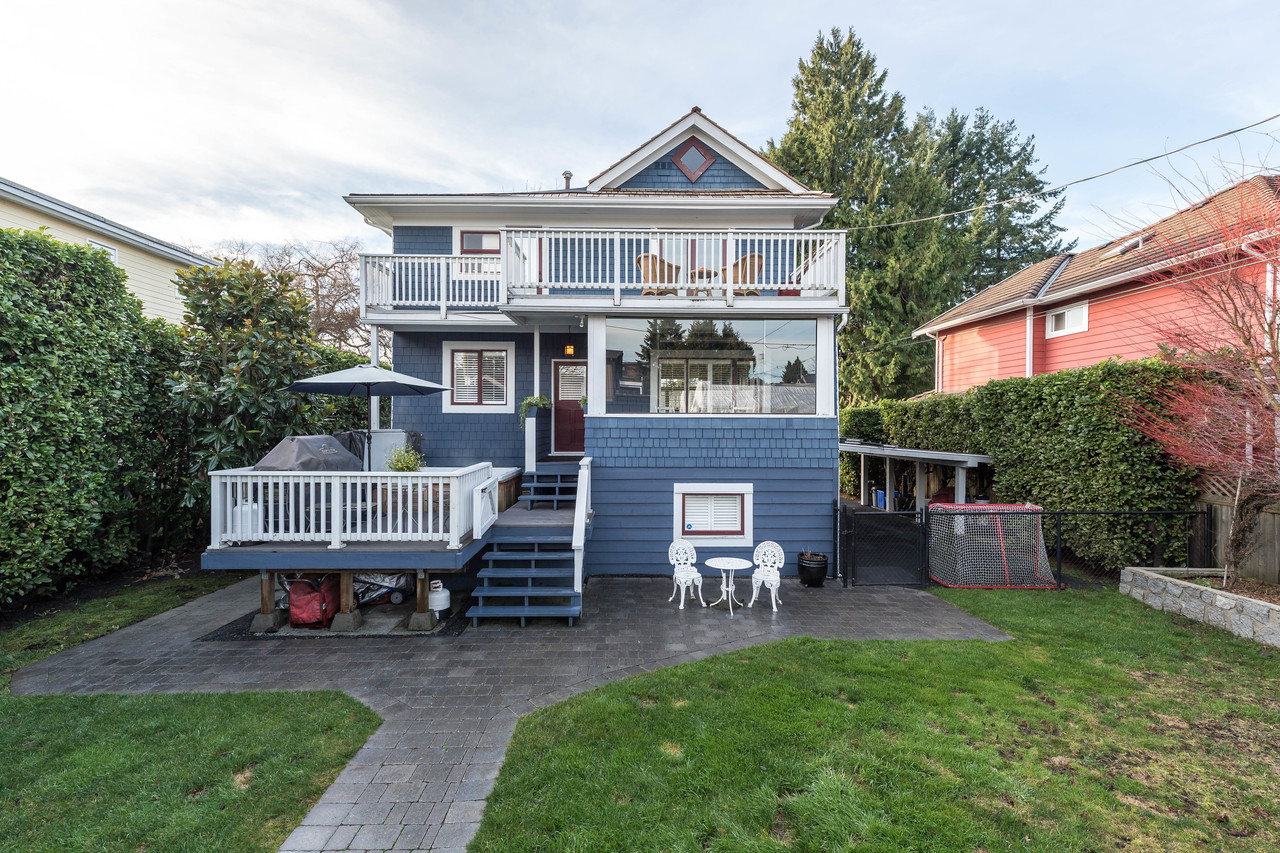 1816 Mahon Ave rear view at 1816 Mahon Avenue, Central Lonsdale, North Vancouver