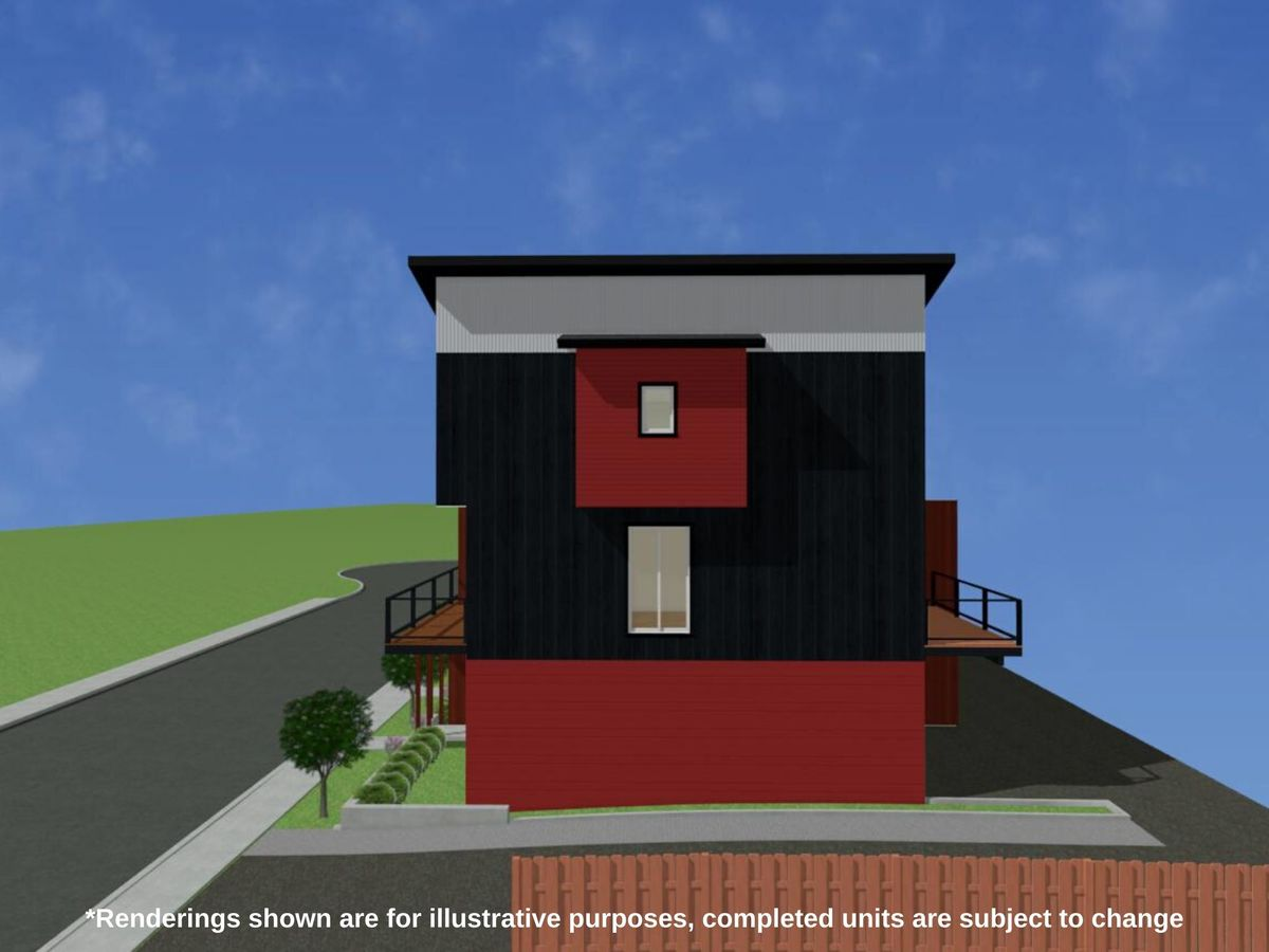4-b1-right-elevation-with-disclaimer at 107 - 1726 Kerrisdale Road, Central Nanaimo, Nanaimo