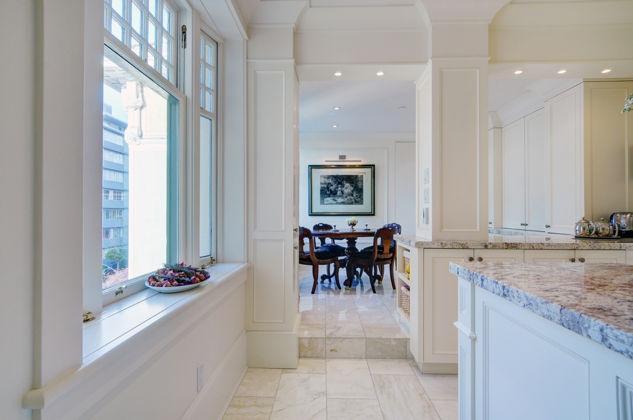 Kitchen toward breakfast nook / office at #50 - 1386 Nicola Street, West End VW, Vancouver West