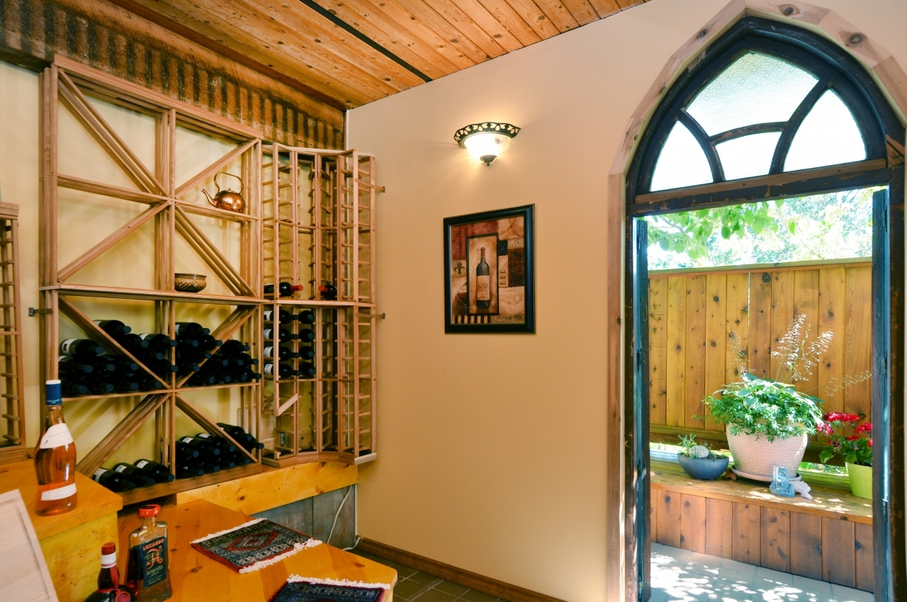 Wine cellar at 4709 Woodgreen Drive, Cypress Park Estates, West Vancouver