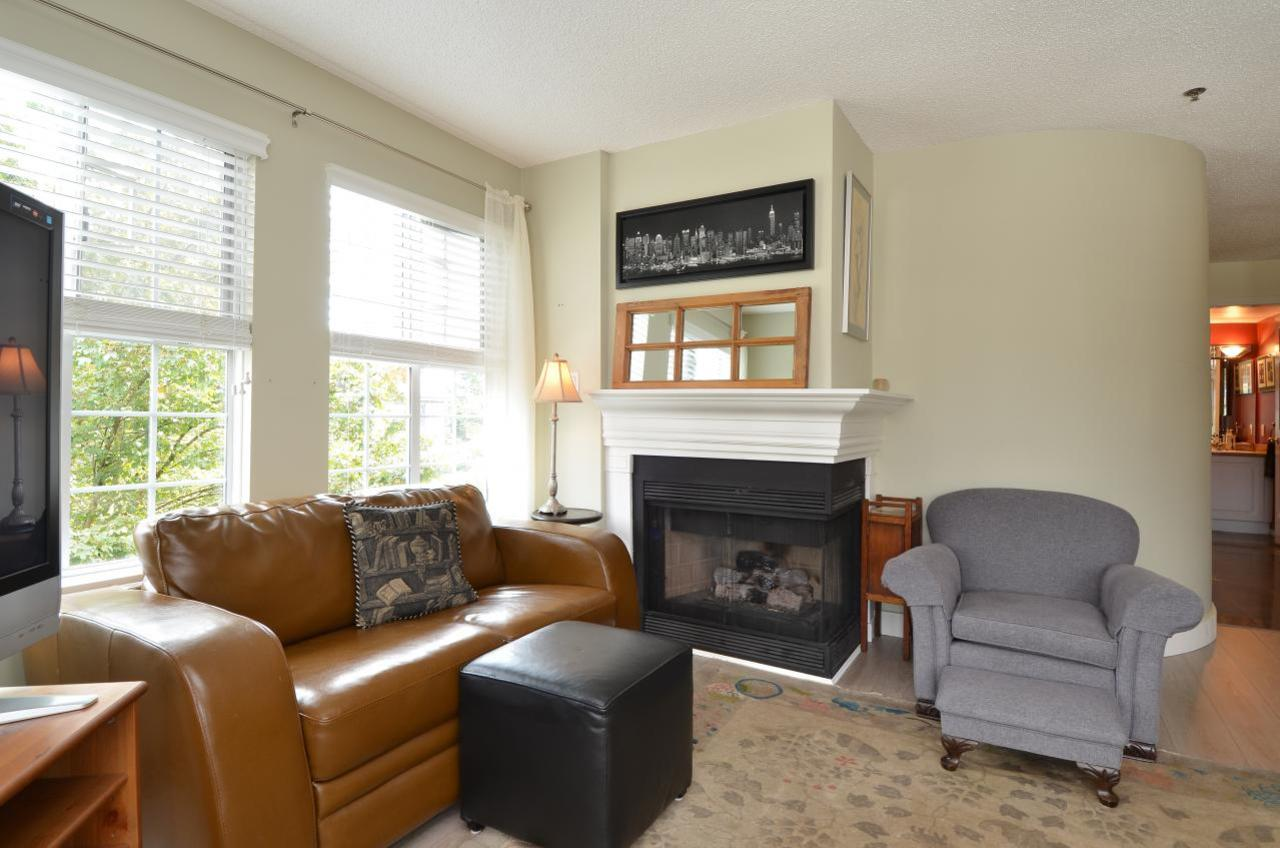 Two sided gas fireplace at 302 - 2091 Vine Street, Kitsilano, Vancouver West