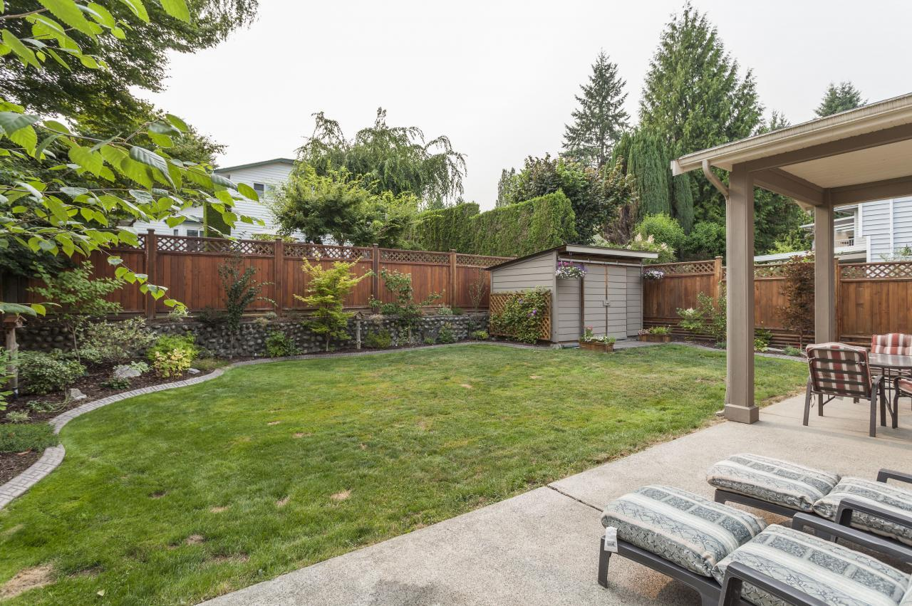 Back Yard at 3961 Pimlico Place, Oxford Heights, Port Coquitlam