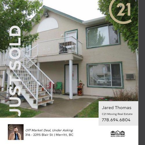 sold-blair at 316 - 2295 Blair Street, Merritt, South West
