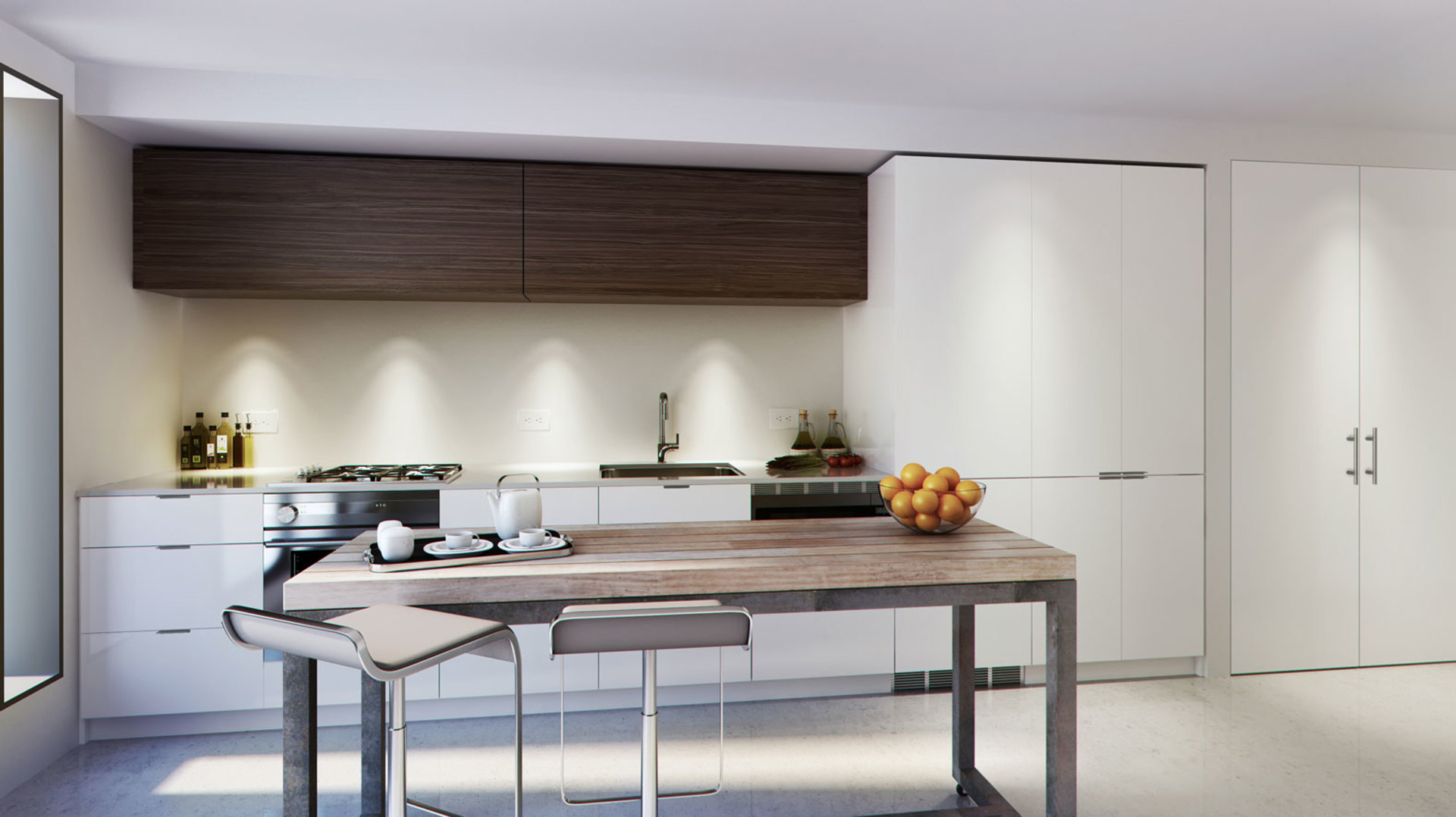 Kitchen Rendering at 207 - 150 E Cordova Street, Downtown VW, Vancouver West