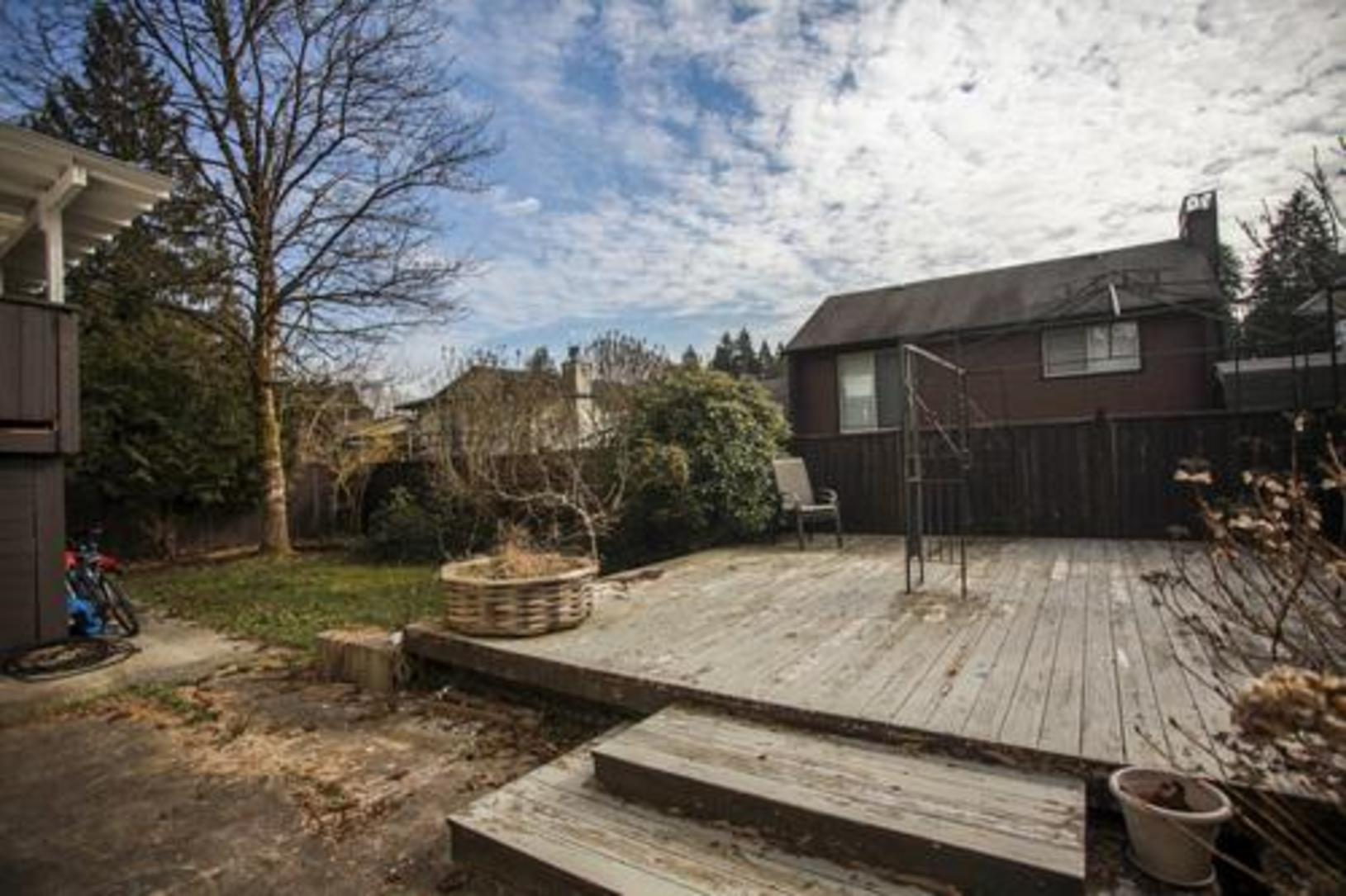 Backyard at 1280 Victoria Drive, Oxford Heights, Port Coquitlam
