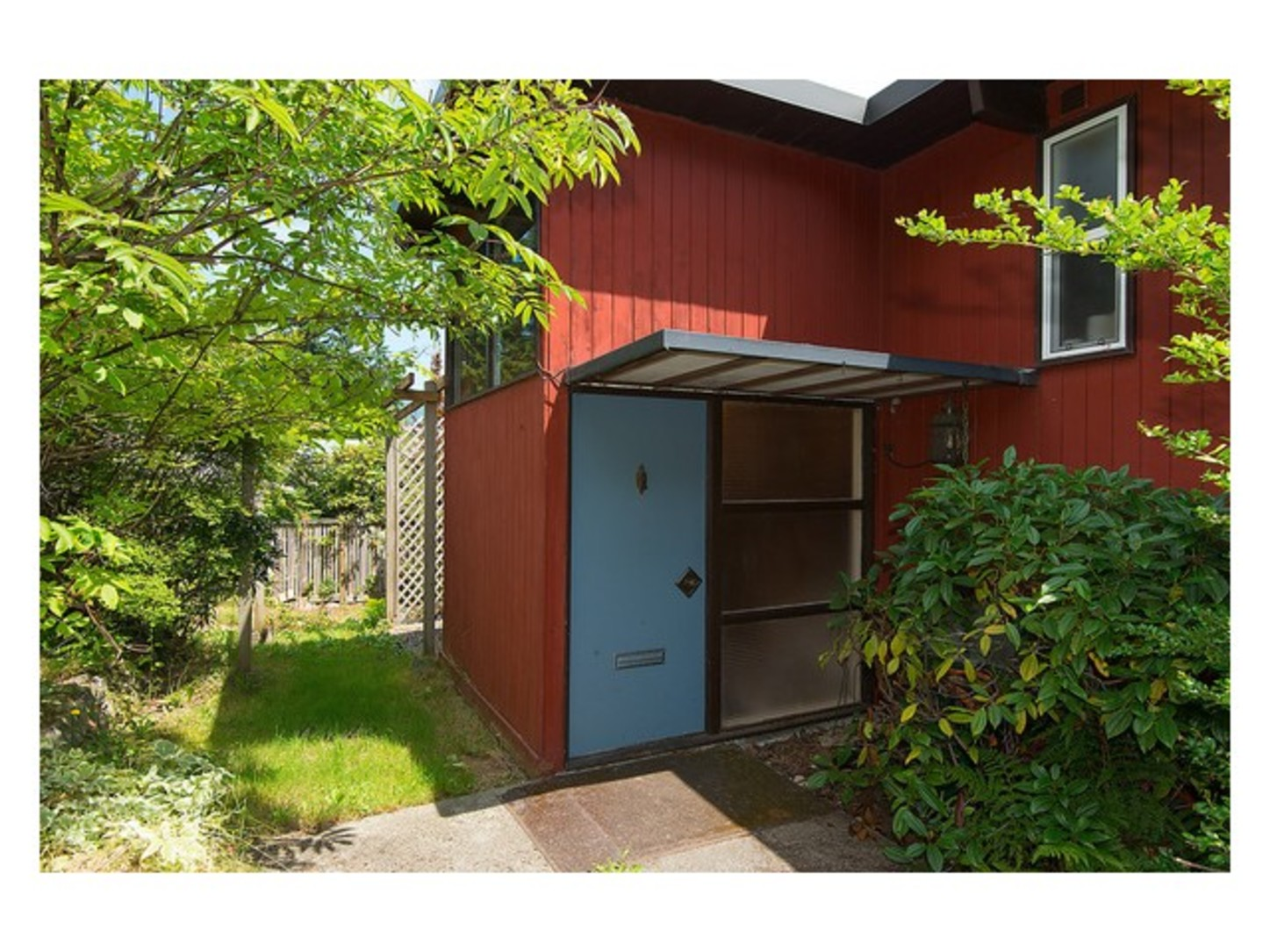 Back entrance at 780 Anderson Crescent, Sentinel Hill, West Vancouver
