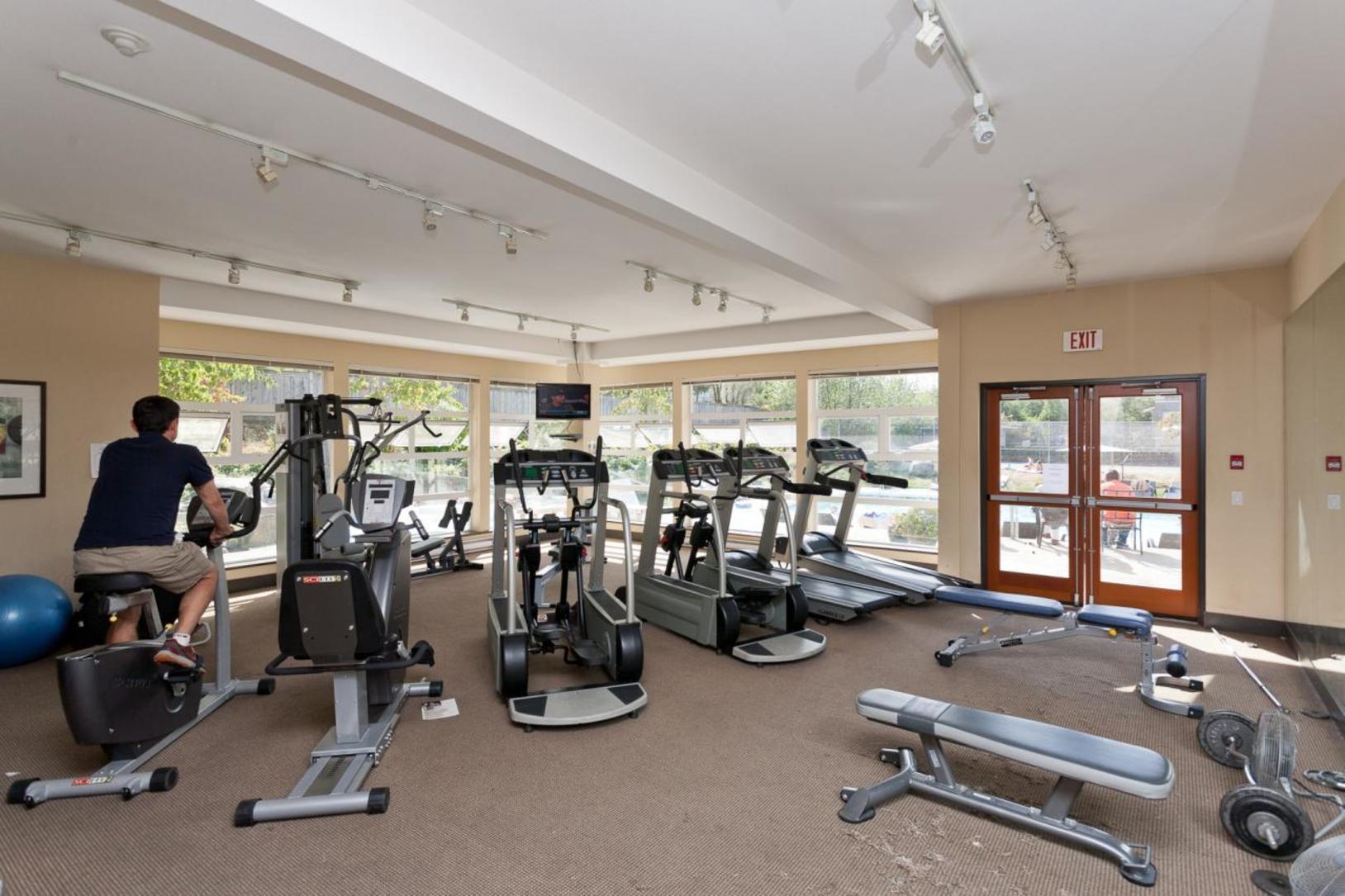 Exercise room at 1802-651 Nootkaway Street, Port Moody
