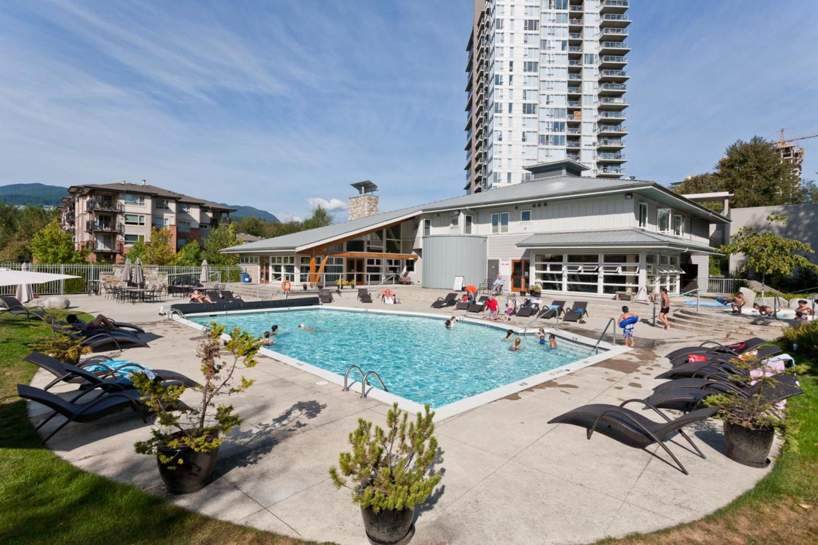 Pool at 1802-651 Nootkaway Street, Port Moody