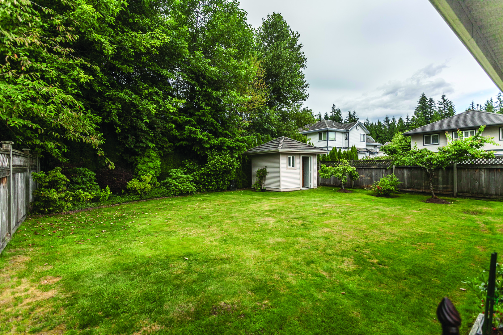 Backyard at 3057 Sienna Court, Coquitlam