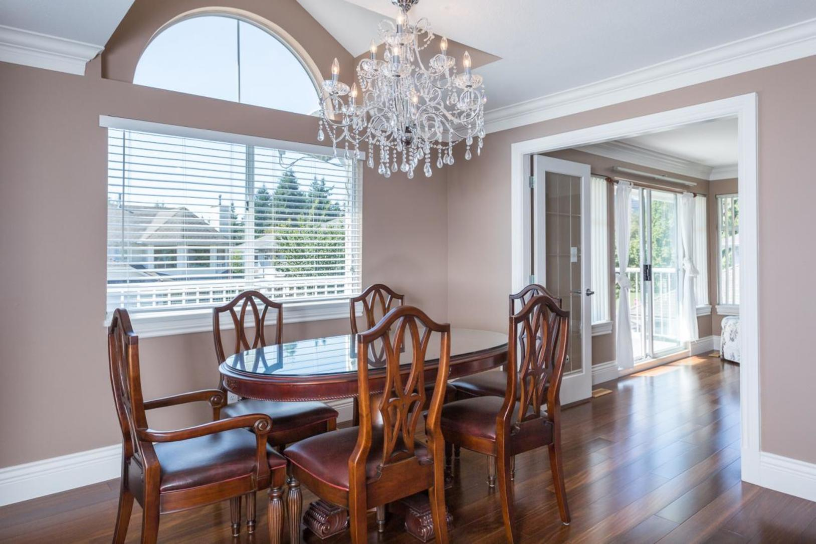 Dining Room at 10 Simon Fraser Court, College Park PM, Port Moody