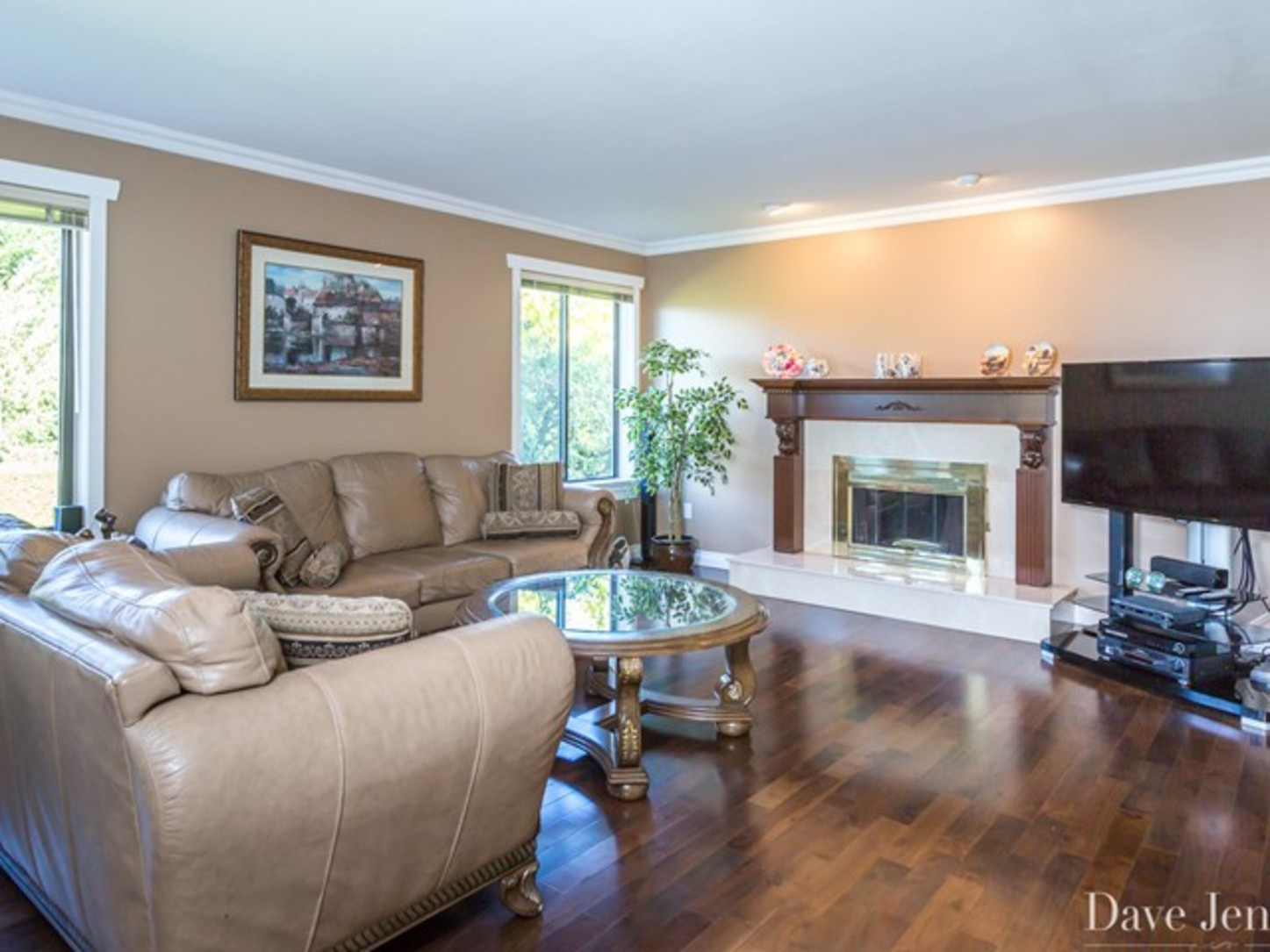 Living room at 9031 Briar Road,