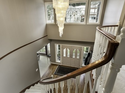 Spiral staircase at 2558 Diamond Crescent, Westwood Plateau, Coquitlam